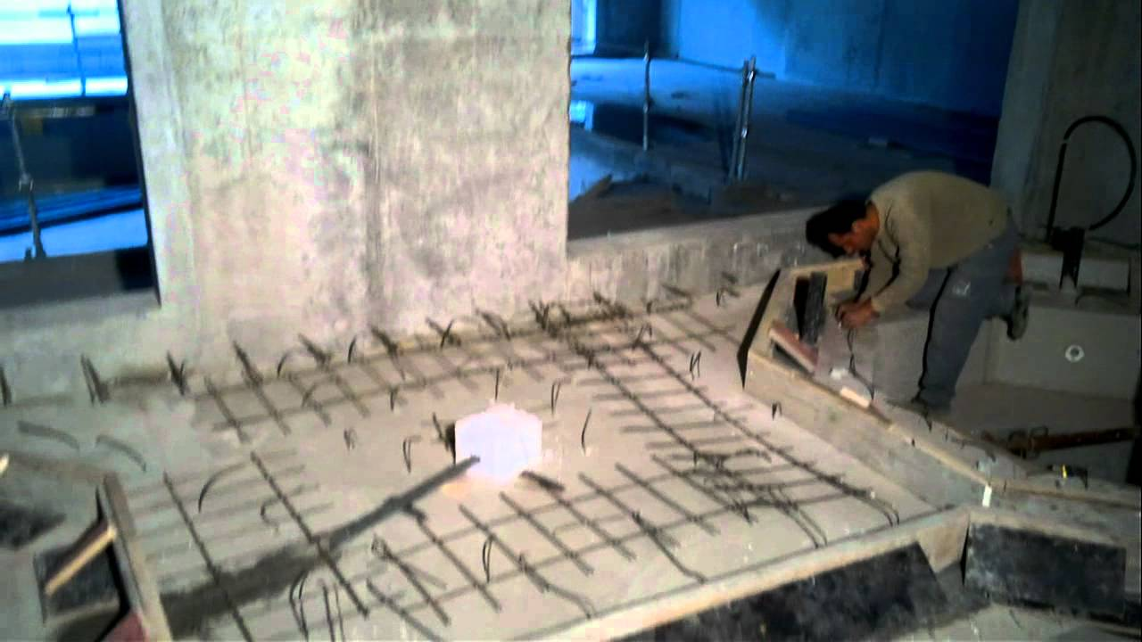construction d 39 un jacuzzi en beton youtube. Black Bedroom Furniture Sets. Home Design Ideas