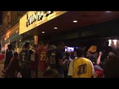 CAVS WIN! Fans react in Cleveland's Ohio City.