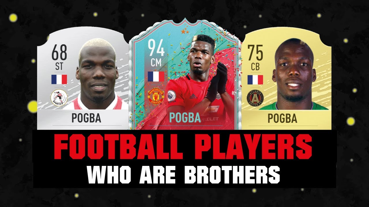FIFA 20 | FOOTBALL PLAYERS WHO ARE BROTHERS AND FAMILY! 😱👪| FT. POGBA, BOATENG, AGUERO... etc