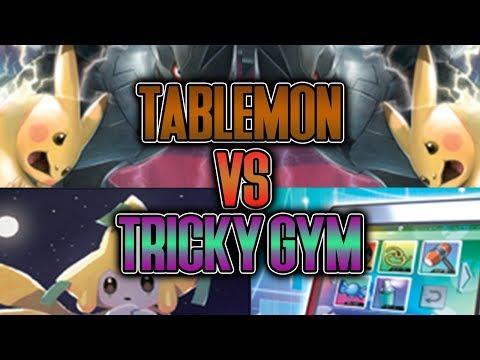 TABLEMON Challenges Andrew Mahone's TRICKY GYM! PIKABOX Vs PIKAPADS! [Pokemon TCG Online]