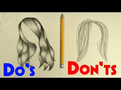 Do s & Don ts of Drawing Hair! (For beginners/stylized)