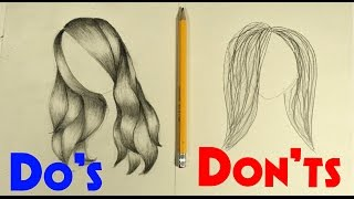 Do's & Don'ts of Drawing Hair! (For beginners/stylized)