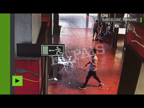 Premières images du suspect des attentats de Barcelone et Cambrils, en train de s'enfuir à pied