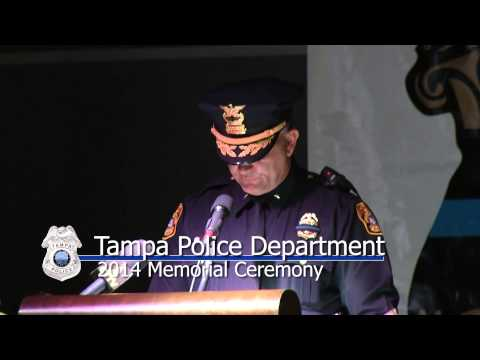 2014 Tampa Police Department Memorial Ceremony