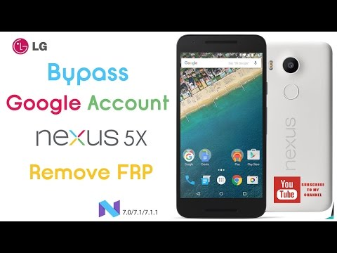 Remove Google Account FRP Huawei Nexus 6P Android Nougat 7 0 / 7 1 1