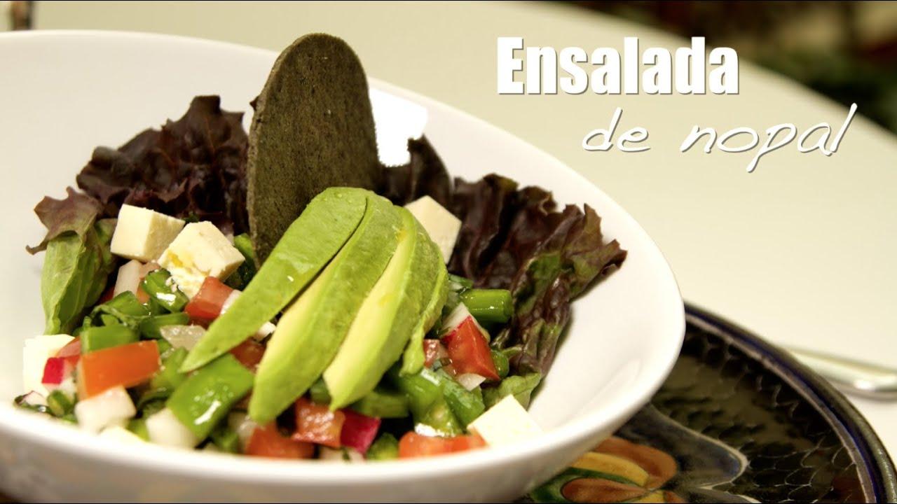 Ensalada de nopal how to make a healthy nopal salad for El mural de los poblanos