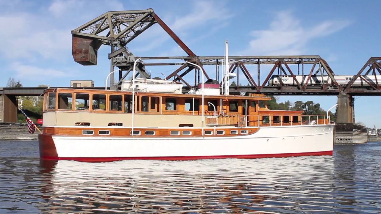 Classic motor yacht linmar is for sale youtube for Vintage motor yachts for sale