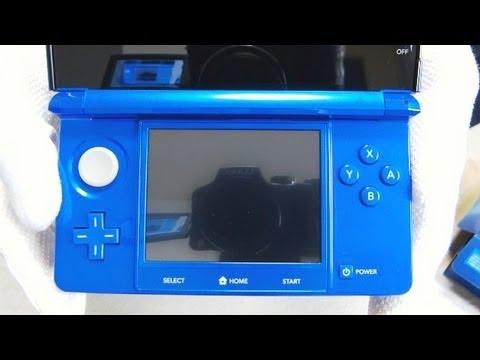 Nintendo 3DS Cobalt Blue Unboxing ニンテンドー 3DS コバルトブルー 開封