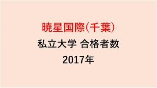 暁星国際高校 大学合格者数 2017~2014年【グラフでわかる】