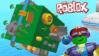 HOW to SURVIVE HERE? Adventure cartoon hero Roblox on map Cube Simulator