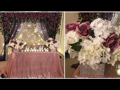 DIY- backdrop decor for any occasion DIY- purple floral decor DIY - elegant decor