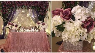 Diy  Backdrop Decor For Any Occasion Diy  Purple Floral Decor Diy   Elegant Decor
