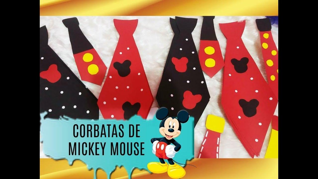 Manualidades Para Fiestas Infantiles Mickey Mouse Youtube
