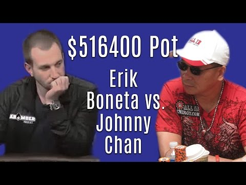 Johnny Chan SNAPS OFF an Amateur's ALL-IN for $516,400! (High Stakes Poker)
