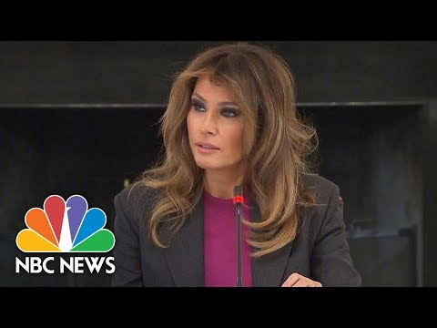 Melania Trump Says She's Aware People Are Skeptical Of Her Anti-Cyberbullying Campaign | NBC News