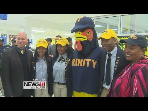 3 students surprised with scholarships to Trinity College