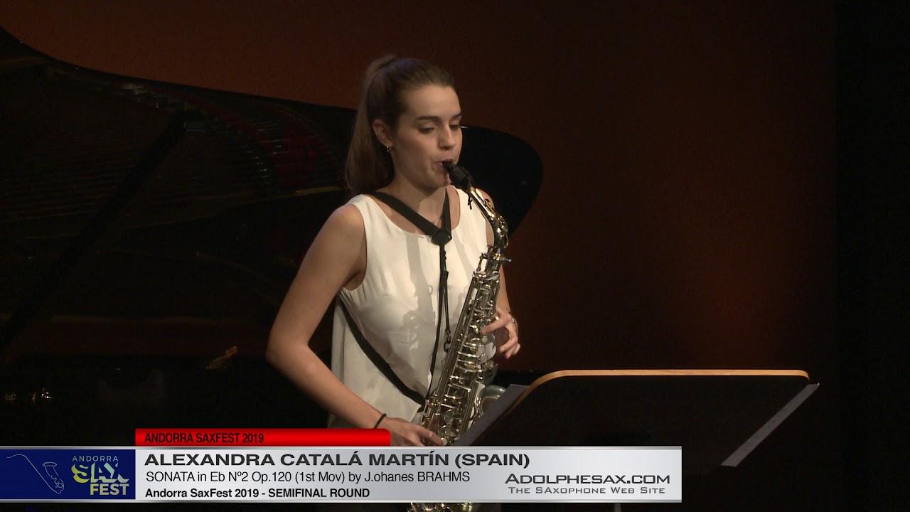 Andorra SaxFest 2019 Semifinal   Alexandra Catalá Martín   Sonata in Eb Nº2 by J  Brahms