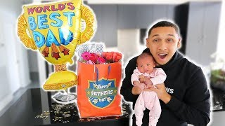 SURPRISING HUSBAND ON HIS FIRST FATHERS DAY!