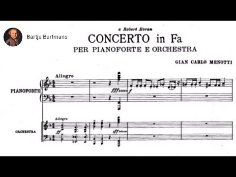 Gian Carlo Menotti - Piano Concerto (1945)