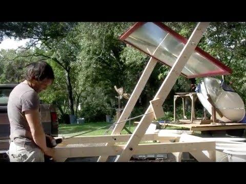 DIY Linear actuator Solar Tracker FRESNEL LENS STAND DOOMSDAY PREPEPRS BUILD