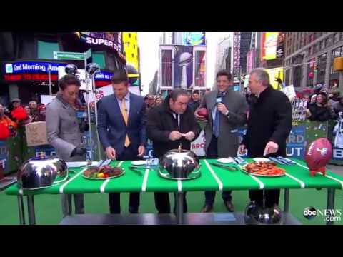 Tim Tebow Faces Off Against Joe Montana in Football Food Figh