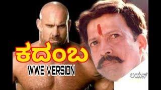 GOLDBERG as Dr.Vishnuvardhan Kadamba style | KADAMBA DIALOGUE IN WWE VERSION |