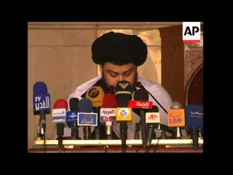 Shiite cleric al-Sadr reappears to call for US withdrawal from Iraq