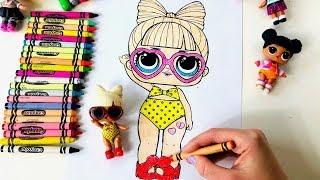 Coloring LOL Surprise Doll SPF QT Kids Video