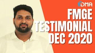 FMGE TESTIMONIAL   Dr. Vijayakumar Dheenadhayalan   DMA Chennai