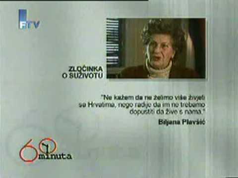 FTV 60 minuta Biljana Plavsic