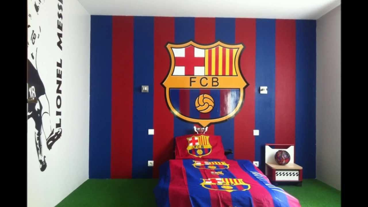 D co chambre barca for Decoration chambre real madrid