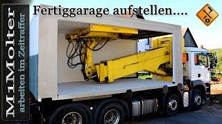Beton Fertiggaragen aufstellen (Concrete Garages) - Zeitraffer von M1Molter