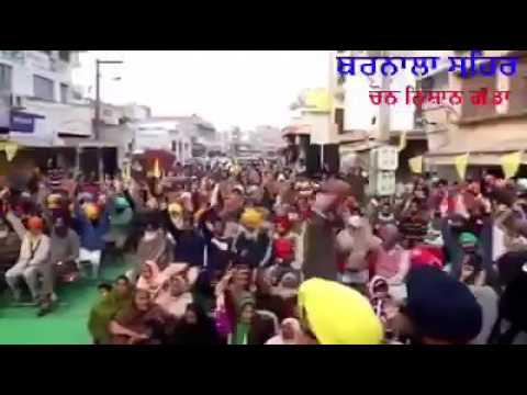 Shromani Akali dal (Amritsar) Khalistan  rally in Malwa region of Punjab on  January 29, 2017