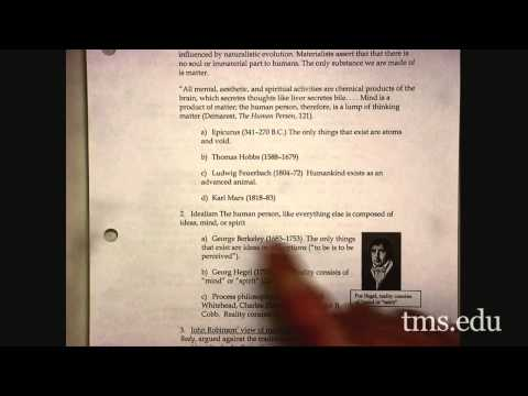 "Theology III Lecture 04 ""The Human Constitution"""