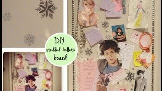DIY Project: Studded Bulletin Board ♥ Thumbnail