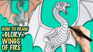 How to draw Wings of Fire - Glory - Easy step-by-step drawing lessons for kids