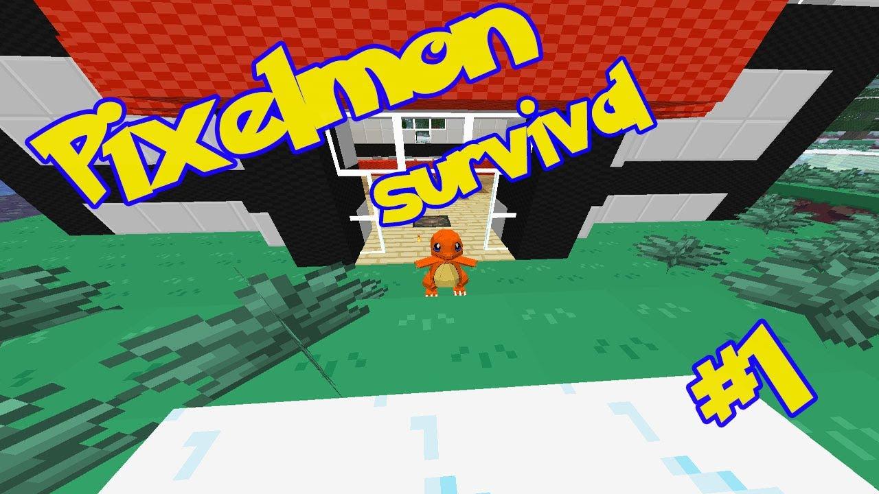 Pixelmon survival 1 ik kies jouw charmander youtube - Pixelmon ep 1 charmander ...