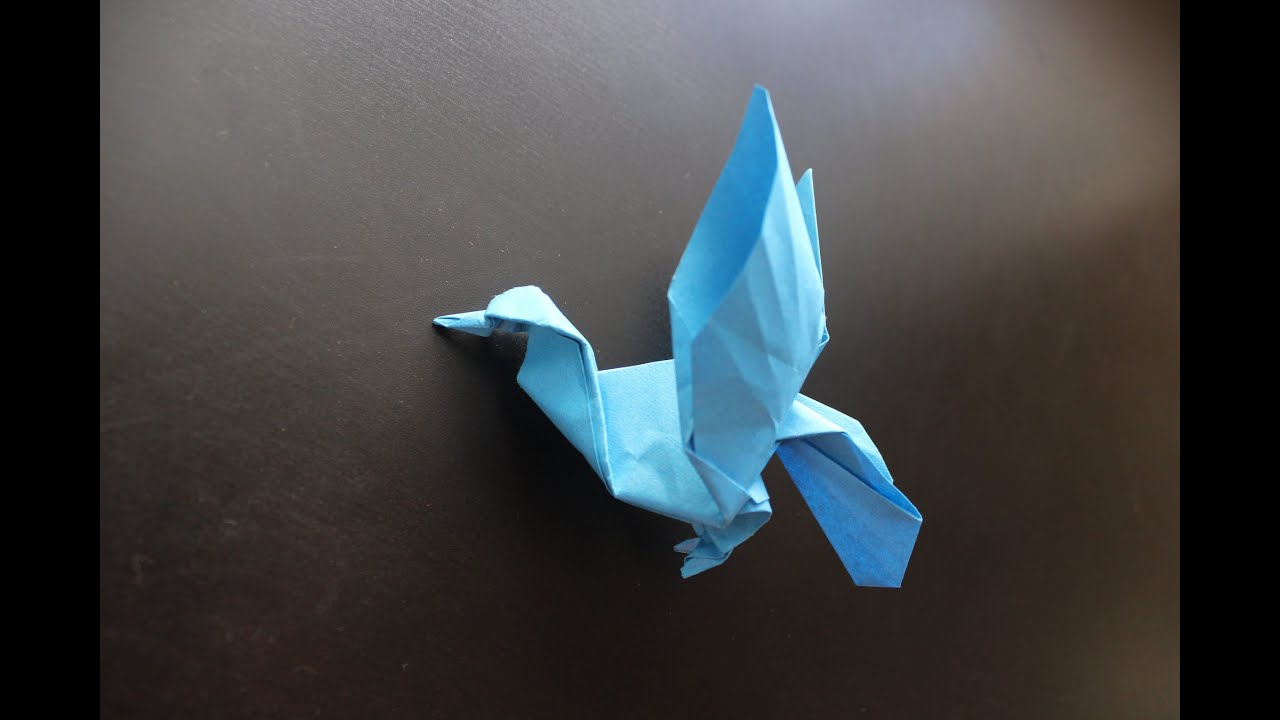 How to Make a Paper Bird (Pigeon) - Origami - YouTube - photo#48