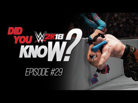 WWE 2K18  Did You Know?: Alternate Enviromental Moves, Hidden Entrance & More (Episode 29)