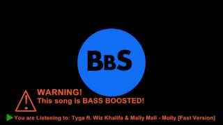 Tyga ft. Wiz Khalifa & Mally Mall - Molly [Original] BASS BOOSTED[Fast Version]
