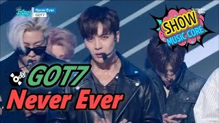 comeback stage got7 갓세븐   never ever show music core 20170325