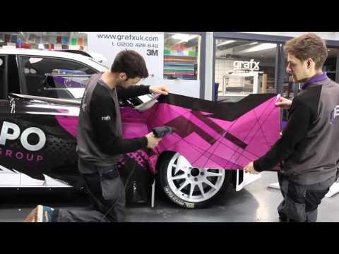 Hippo Motor Group's Printed Vinyl Wrap on Skoda Fabia R5 Rally Car