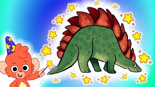 Club Baboo   Dino puzzle!   Where does the stegosaurus piece go?   Dino fun for kids!