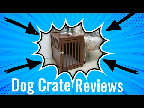 Dog Crate Reviews 🐶 Crown Pet Products Wood Pet Crate End Table Dog Crate Review