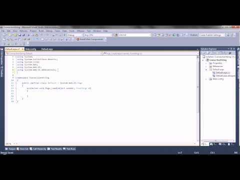 Part 1 How to create a ConnectionString in web.config  to SQL server using C#