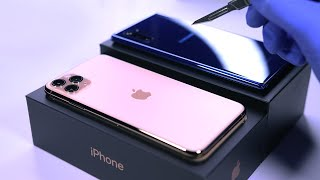 iPhone 11 Pro Max vs Note 10 Plus - Unboxing ASMR