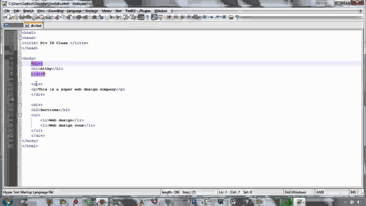 Html div id class language tamil youtube - Html div class ...