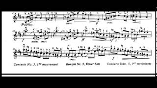 Concerto No. 5, 1st Movement (F. Seitz)
