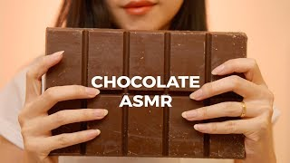 ASMR Giant Chocolate Bar | Tapping, Cutting, Snapping  Sounds (No Talking)