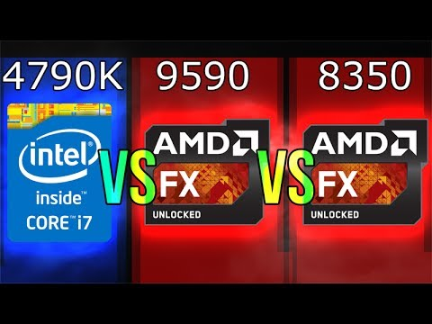 Intel I7 4790k Vs Amd Fx 9590 Vs Fx 8350 Youtube